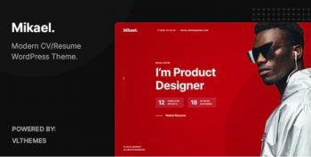 Mikael- Modern & Creative CV/Resume WordPress Theme