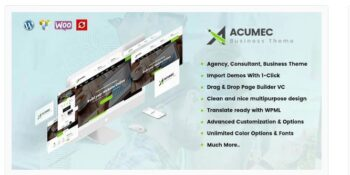 Acumec - Business Multipurpose WordPress Theme