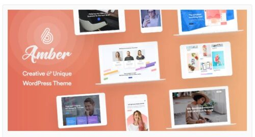 Amber Six - Creative and Multipurpose WordPress Theme