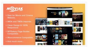 AmyMovie Movie and Cinema WordPress Theme