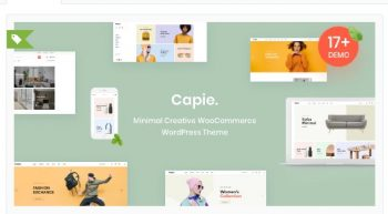 Capie - Minimal Creative WooCommerce WordPress Theme