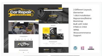 Car Repair Services & Auto Mechanic - WordPress Theme + RTL