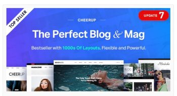 CheerUp - Blog / Magazine - WordPress Blog Theme