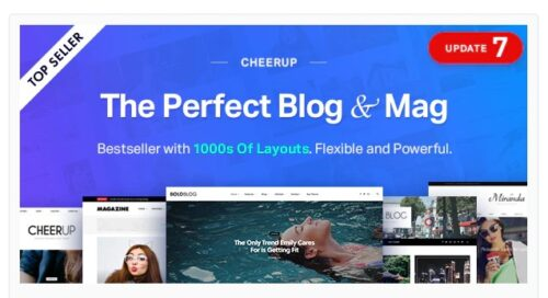 CheerUp - Blog / Magazine - WordPress Blog Theme
