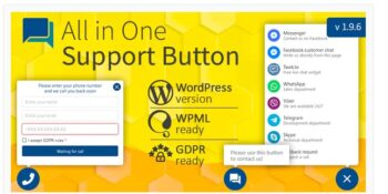 Contact us all-in-one button with callback