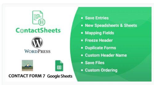 ContactSheets - Contact Form 7 Google Spreadsheet Addon