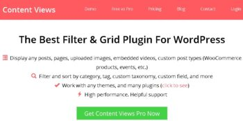 Content Views Pro - Display WordPress Content In Grid & More Layouts
