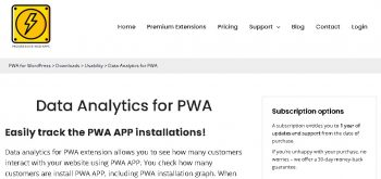 Data Analytics for PWA
