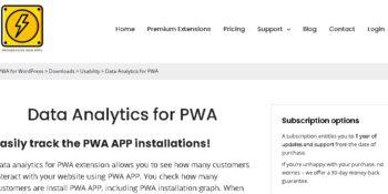 Data Analytics for PWA
