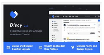 10. Discy - Social Questions and Answers WordPress Theme