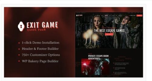 Exit Game - Real-Life Room Escape WordPress Theme