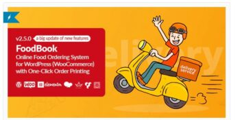 FoodBook - Online Food Ordering System for WordPress with One-Click Order Printing