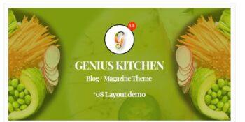 Genius Kitchen - News Magazine and Blog Food WordPress Theme