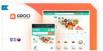Groci- Organic Food and Grocery Market WordPress Theme