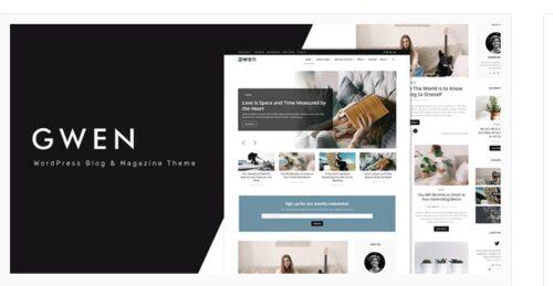 Gwen - Creative Personal WordPress Blog Theme
