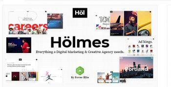 Holmes - Digital Agency Wordpress Theme