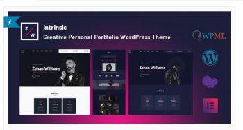 Intrinsic - Creative Personal Portfolio Themes