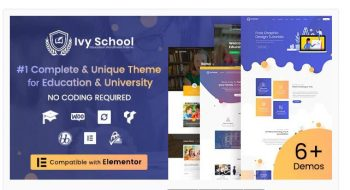 Ivy School – Education, University & School Theme