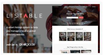 LISTABLE - A Friendly Directory WordPress Theme