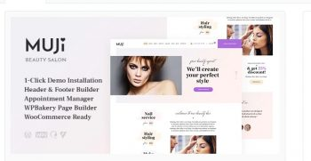 Muji - Beauty Shop & Spa Salon WordPress Theme