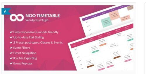 Noo Timetable - Responsive Calendar & Auto Sync