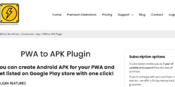 PWA to APK Plugin