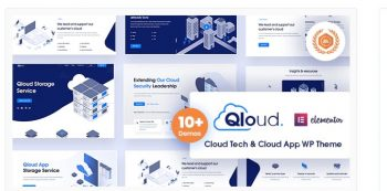 Qloud - Cloud Computing, Apps & Server WordPress Theme