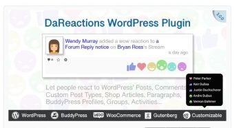 Reactions WordPress Plugin
