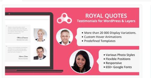 Royal Quotes - WordPress Testimonials Plugin