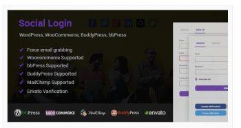 Social Login for WordPress WooCommerce BuddyPress bbPress