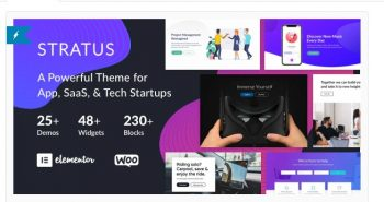 Stratus - App, SaaS & Software Startup Tech Theme