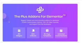 The Plus - Addon for Elementor Page Builder WordPress Plugin