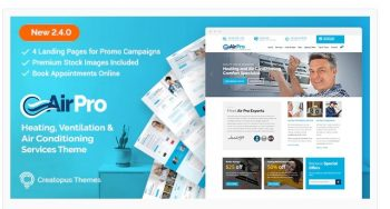 AirPro - Heating and Air conditioning Theme