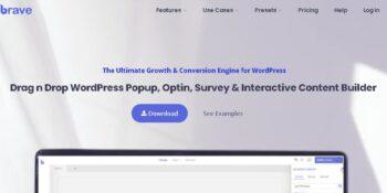 Brave - Drag n Drop WordPress Popup, Optin, Lead Gen & Survey Builder