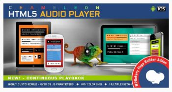 Chameleon- Audio Player for WPBakery Page Builder