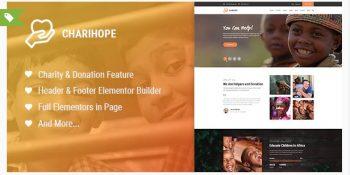 Charihope - Charity and Donation WordPress Theme