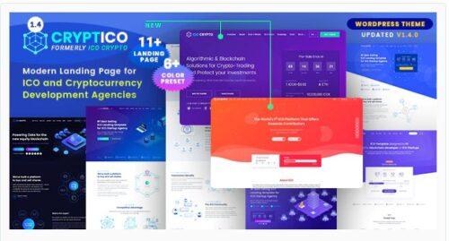 Cryptico - ICO Crypto Landing & Cryptocurrency Theme
