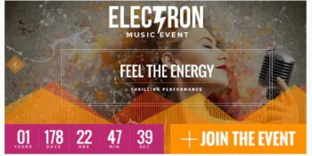 Electron v- Event Concert & Conference Theme