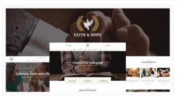 Faith & Hope - A Modern Church & Religion Non-Profit WordPress Theme