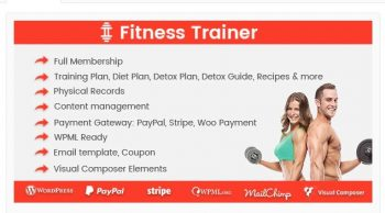 Fitness Trainer - Training Membership Plugin