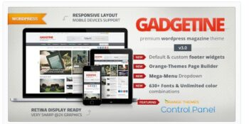 Gadgetine - WordPress Theme for Premium Magazine - Multi-Concept WordPress Theme