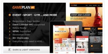 Gameplan - Event and Gym Fitness Theme