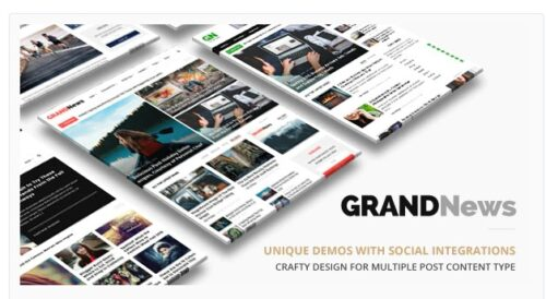 Grand News v3.3.1 - Magazine Newspaper WordPress