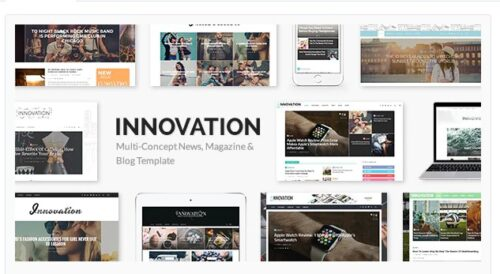 INNOVATION - Multi-Concept News, Magazine & Blog Template