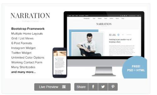 Narration - A Responsive WordPress Blog Theme