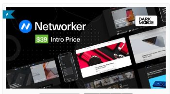 Networker - Tech News WordPress Theme with Dark Mode