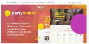 PartyMaker - Event Planner & Wedding Agency WordPress Theme