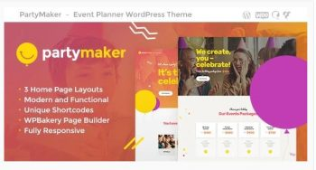 PartyMaker - Event Planner & Wedding Agency WordPress Theme
