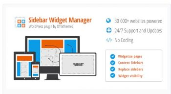 Sidebar & Widget Manager