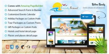 Trendy Travel - Multipurpose Tour Package WP Theme